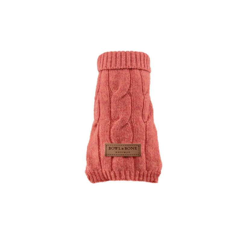 Bowl and Bone Aspen Pink Dog Pullover