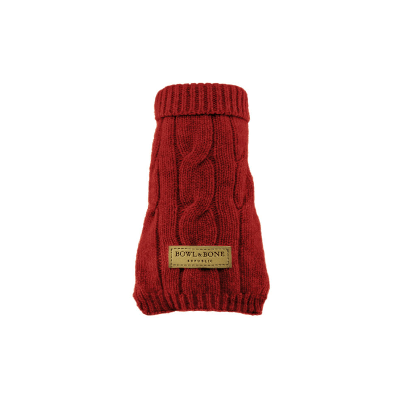 Bowl and Bone Aspen Red Dog Pullover