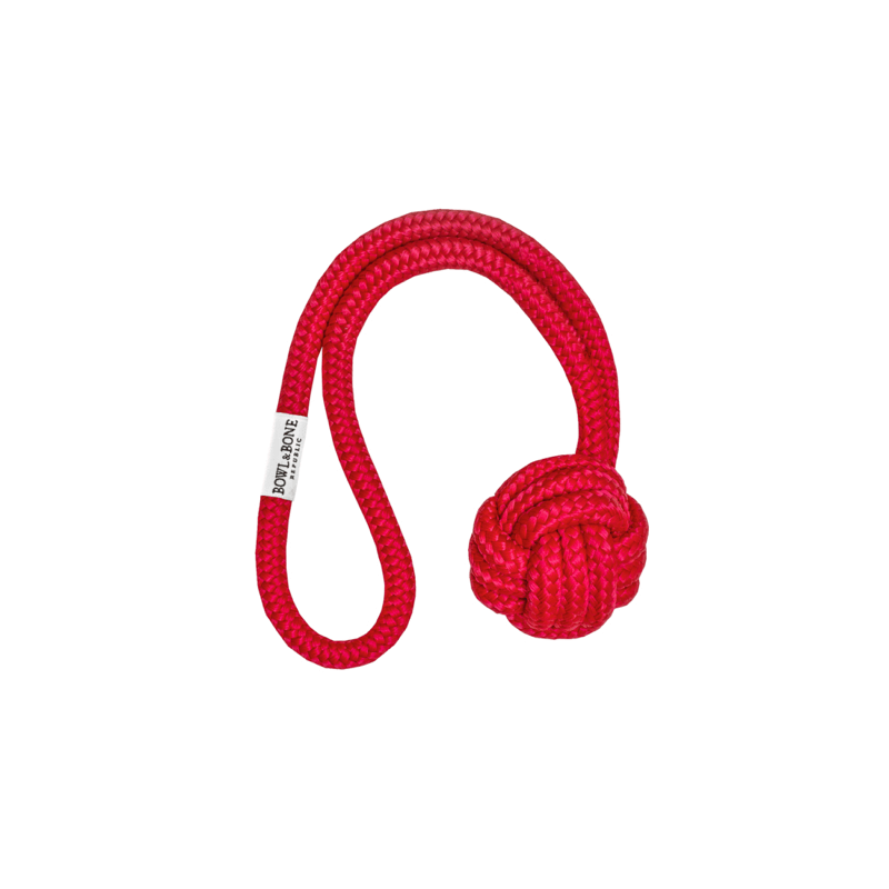 Bowl and Bone Red Bullet Rope Dog Toy