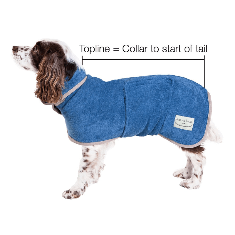 Ruff And Tumble Classic Dog Drying Coat in Sandringham Blue
