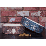 Personalised Granite Design Dog Bowl
