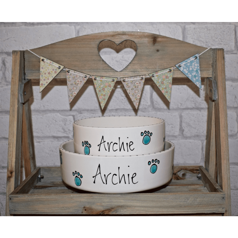 Handmade Personalised Ceramic Dog Bowls