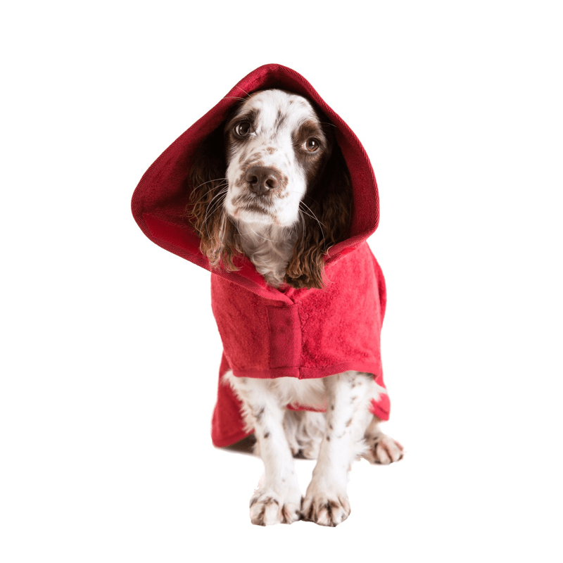 Ruff And Tumble Classic Dog Drying Coat in Red