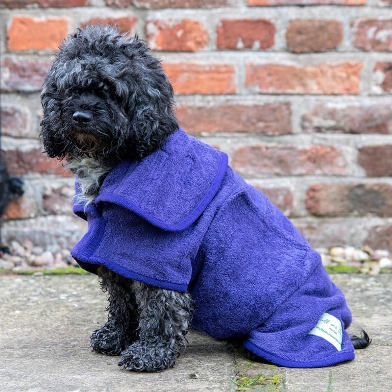 Ruff And Tumble Classic Dog Drying Coat in Heather Purple