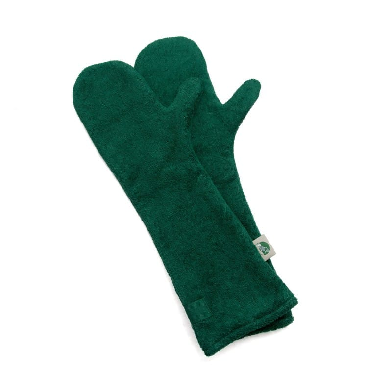 Ruff and Tumble Dog Drying Gloves in Green