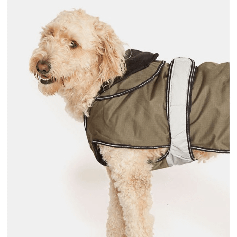 The Ultimate 2 in 1 Waterproof Dog Coat in Khaki