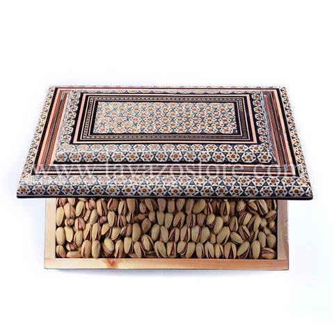 Salted Pistachio In Handmade Wooden Box - Tavazo Corporation