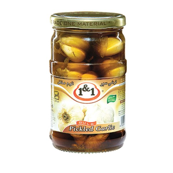 1 and 1 pickled garlic