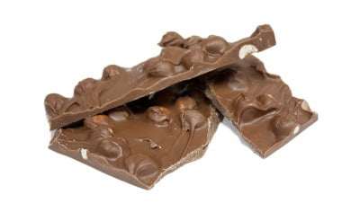 Milk chocolate filbert bark