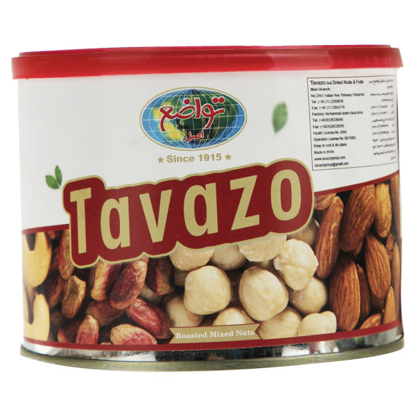 Salted Shelled Mixed Nuts in 250 gr. Tin - Tavazo Corporation