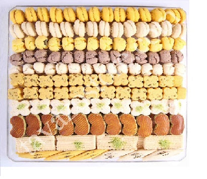 Qazvin Cookies small delicious cookies made with chickpea nut powder. Product of Iran.