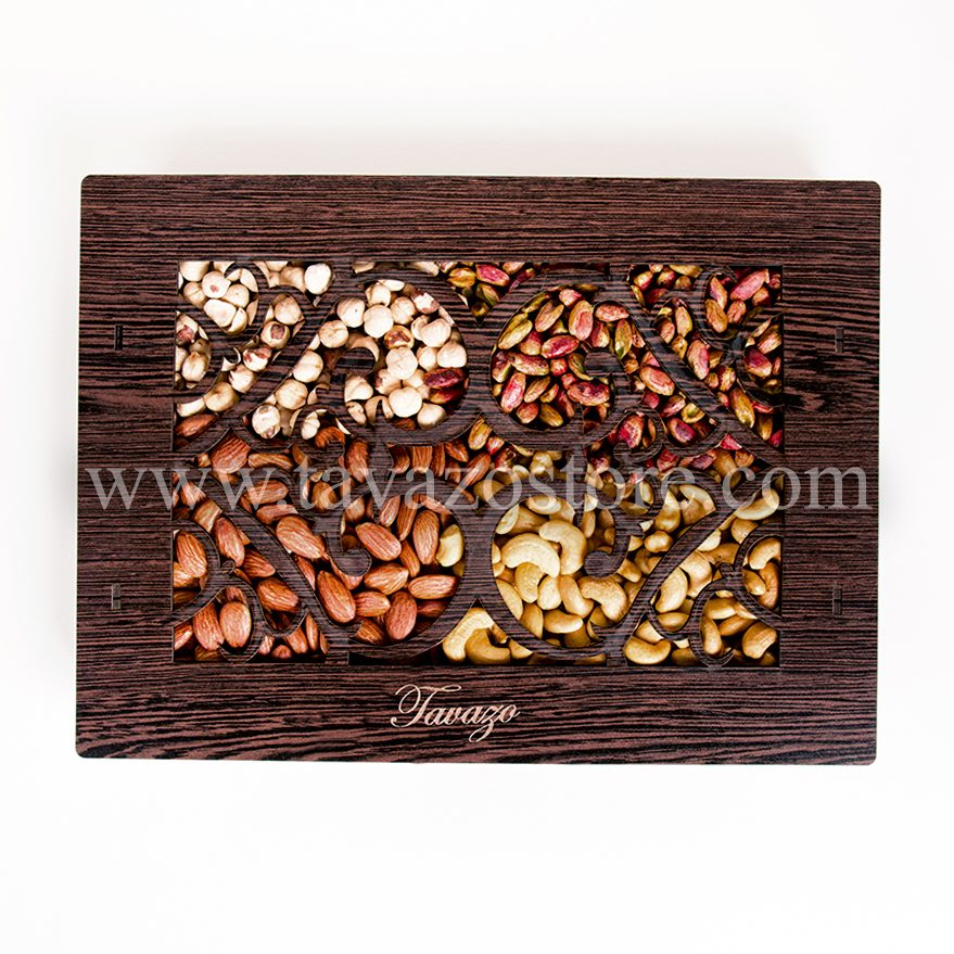 Salted Shelled Mixed Nuts in Wooden Box - Tavazo Corporation