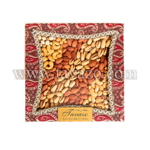 Salted Mixed Nuts in Red Handmade Box