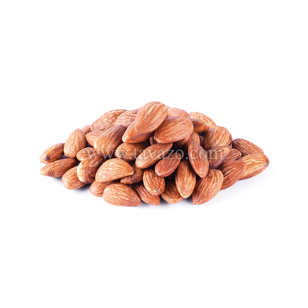 Roasted and salted almond from California. Daily roasted nuts in house.