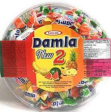 Damla soft candy with watermelon filling