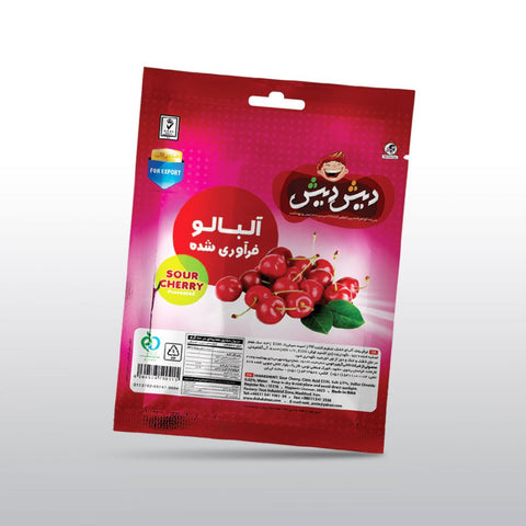 Dish DIsh processed sour cherry vacuum pack