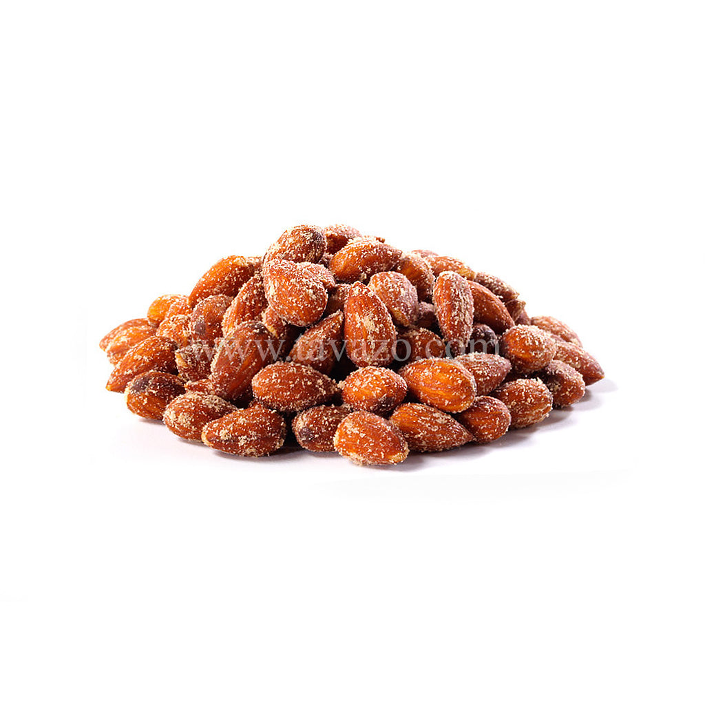 Almonds from California roasted with hickory smoked seasoning.