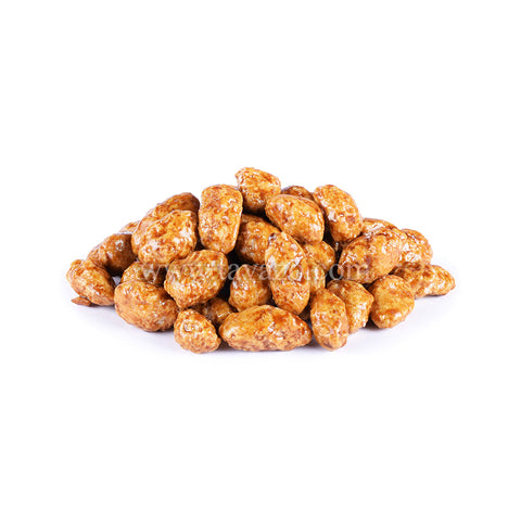 Honey roasted almond. Premium quality dried fruits and nuts. Always fresh products.