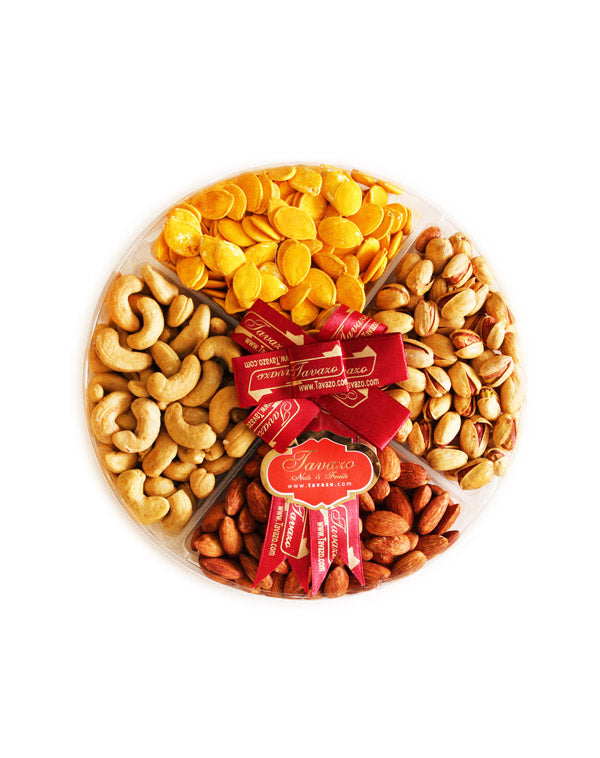 Assorted dried nuts gift tray basket. Shop dried fruits and nuts online.
