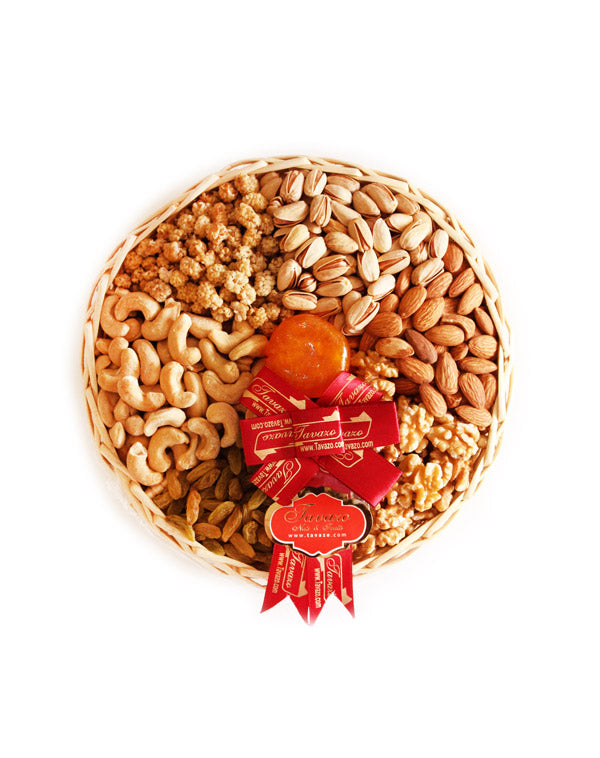 Natural Nuts & Fruits Tray - Tavazo Corporation