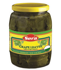 Canned grape leaves
