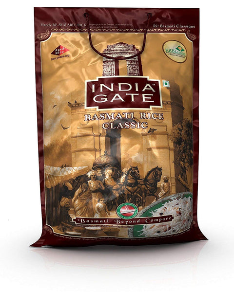 Classic Indian Gate Basmati Rice - 8 LB - Tavazo Corporation
