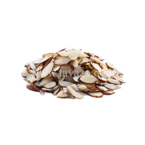 Organic Almonds Raw Blanched with Skin (Sliced)