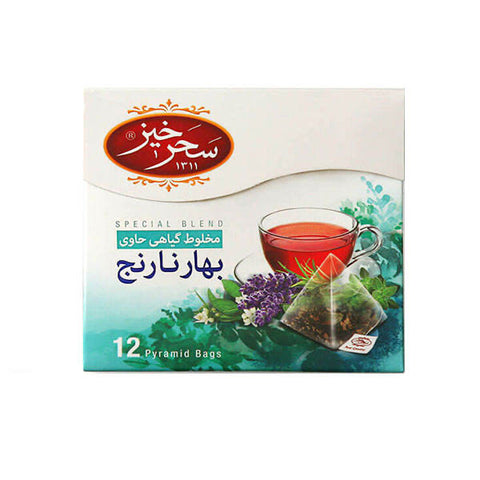 Saharkhiz Relaxing (Orange Blossom) Herbal Infusion 12 Pyramid Bags 2gr