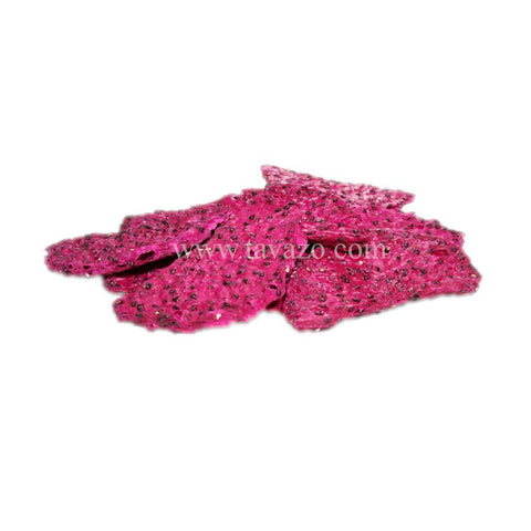 Dried Red dragon fruit chips. Natural dried snack, perfect healthy crunchy alternative snack.
