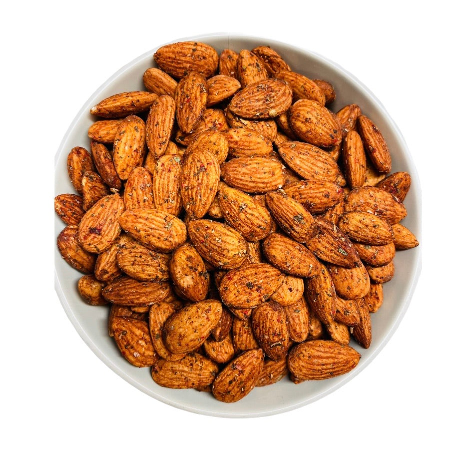 Veggie roasted almonds