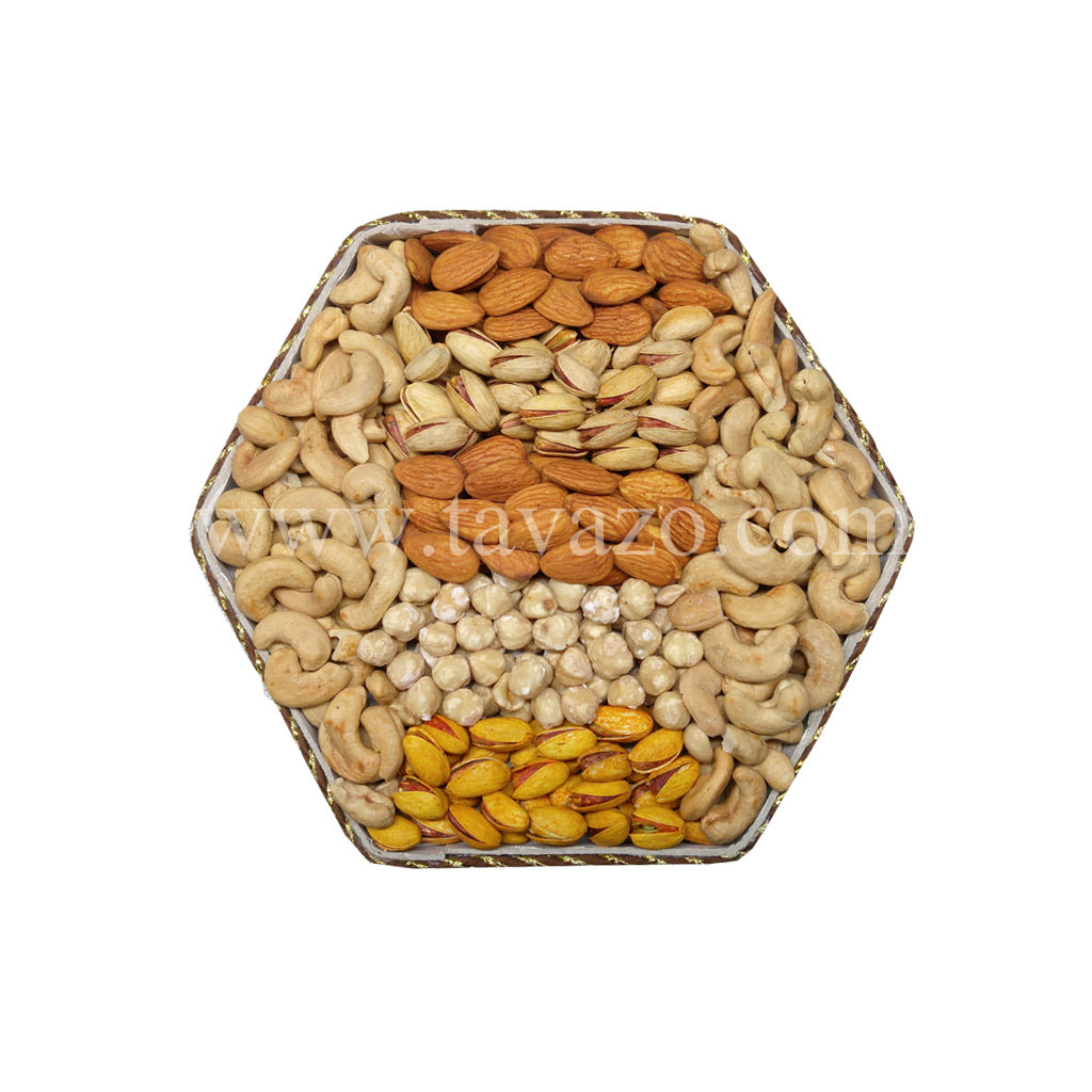 Salted Shelled & In Shell Nuts Gift Tray - Tavazo Corporation