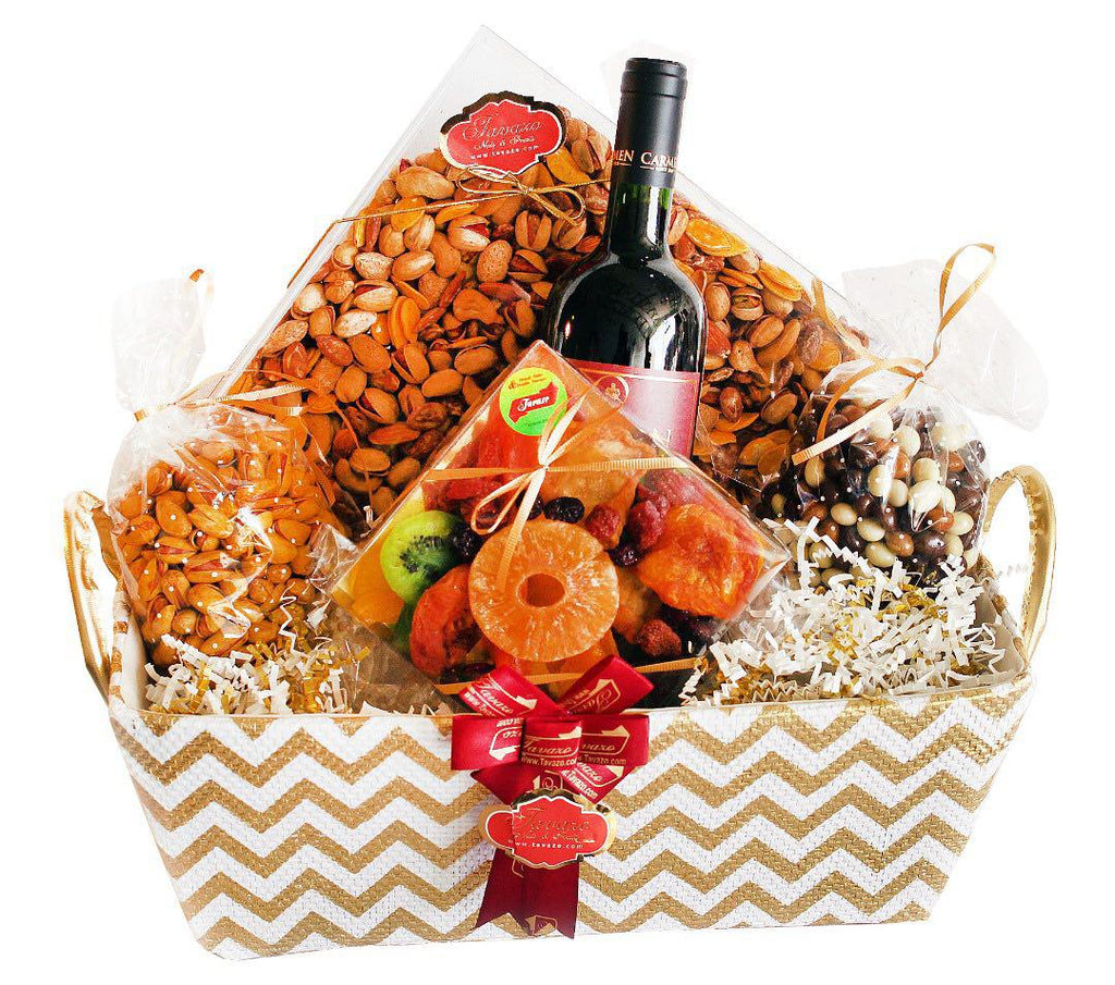 Perfect holiday gift to give, over 400 dried nuts and snacks to pick from.