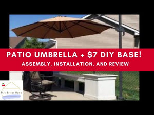 🍒 **Best Choice Patio Umbrella Easy and Cheap DIY Base!** ➔ Assembly, Installation, & Review by ThisBetterHome (11 months ago)