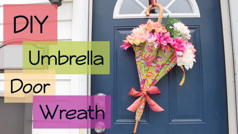 DIY | Umbrella Flower Door Wreath by Megan Makes (5 years ago)