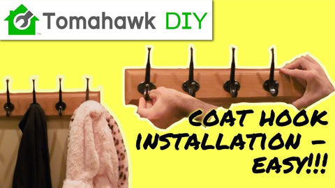 Easy to follow instructions for installing a coat hook rack on the wall