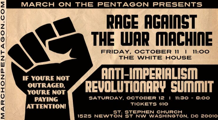 March on the Pentagon Invites You to Rage Against the War Machine