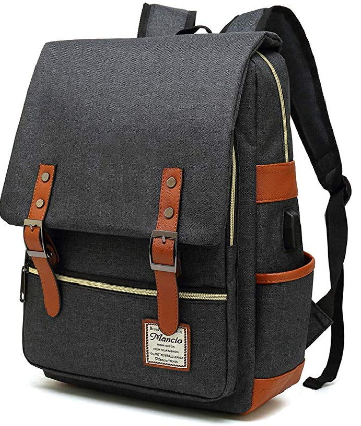 Slim Vintage Style Laptop Backpack