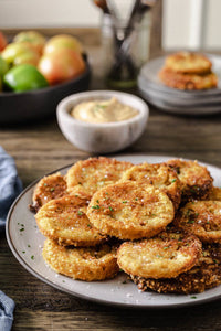 A delicious way to use unripened green tomatoes, these keto fried green tomatoes taste just like the classic southern recipe with their delightfully crunchy coating.