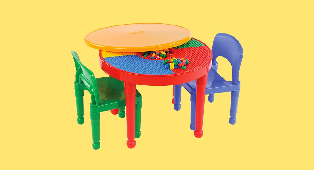 Kids' tables and chairs tend to give your eyeballs a migraine
