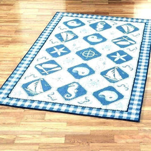 Charming Nautical Bathroom Rugs