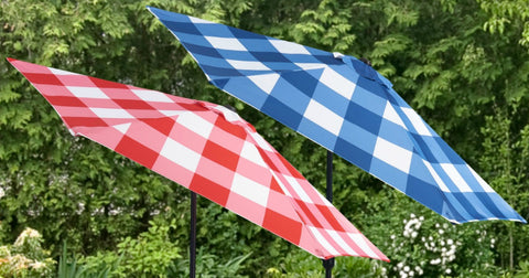 Mainstays Gingham Market Patio Umbrellas Only $41.99 Shipped on Walmart.com (Regularly $70)