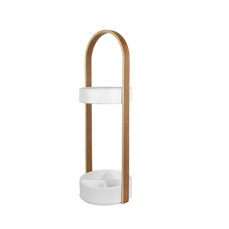 Umbra Hub umbrella stand - natural/white