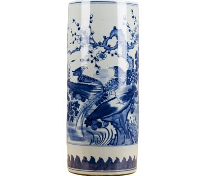 #2817 Blue and white chinoiserie style umbrella stand