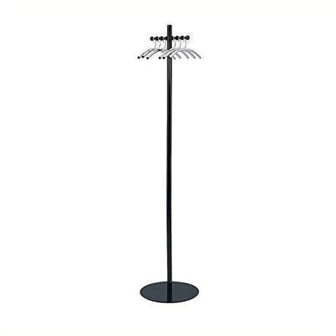 Storage safco products 4192nc nail head costumer coat rack tree black silver