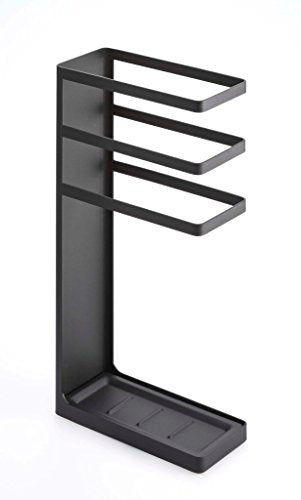 Red Co. Modern Minimalistic Stylish Open Umbrella Stand, Free Standing Rack, Black Steel Finish, 17-inch