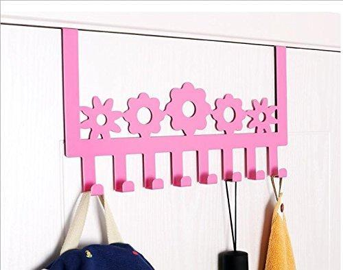 Products stainless steel over door hooks home kitchen cupboard cabinet towel coat hat bag clothes hanger holder organizer rack 8pcs suitable for the thickness door
