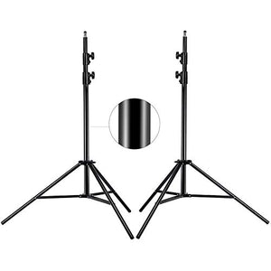 MOUNTDOG Photography Tripod Light Stand 6.5 Ft/ 200CM / 78inch 2 Pack Aluminum Alloy Photographic Stand for Studio Reflector Softbox Umbrellas