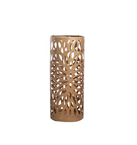Yxsd Simple Cast Iron Umbrella Stand with Hooks Hotel Office Home Storage,Round Gold 20cm50cm