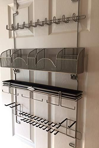Shop for mens over the door wall belt tie valet organizer silver powder coat high quality mens organizer by longstem patented rated best now also in black 9200