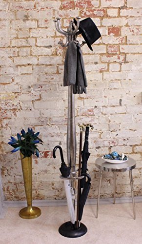 Ural Vintage Aluminium Coat Stand with Umbrella Holder